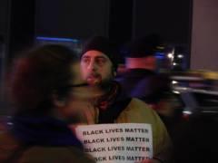 A man at an Eric Garner protest in Manhattan.