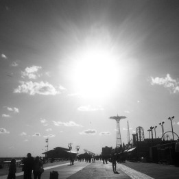 The Coney Island boardwalk in early spring 2015.