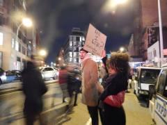 An Eric Garner protest in Manhattan.