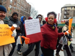 Brooklyn residents took to the streets to fight for affordable housing.